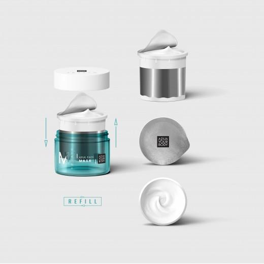 Aqua Face Mask Refil - nawadniająca maseczka do twarzy Refill